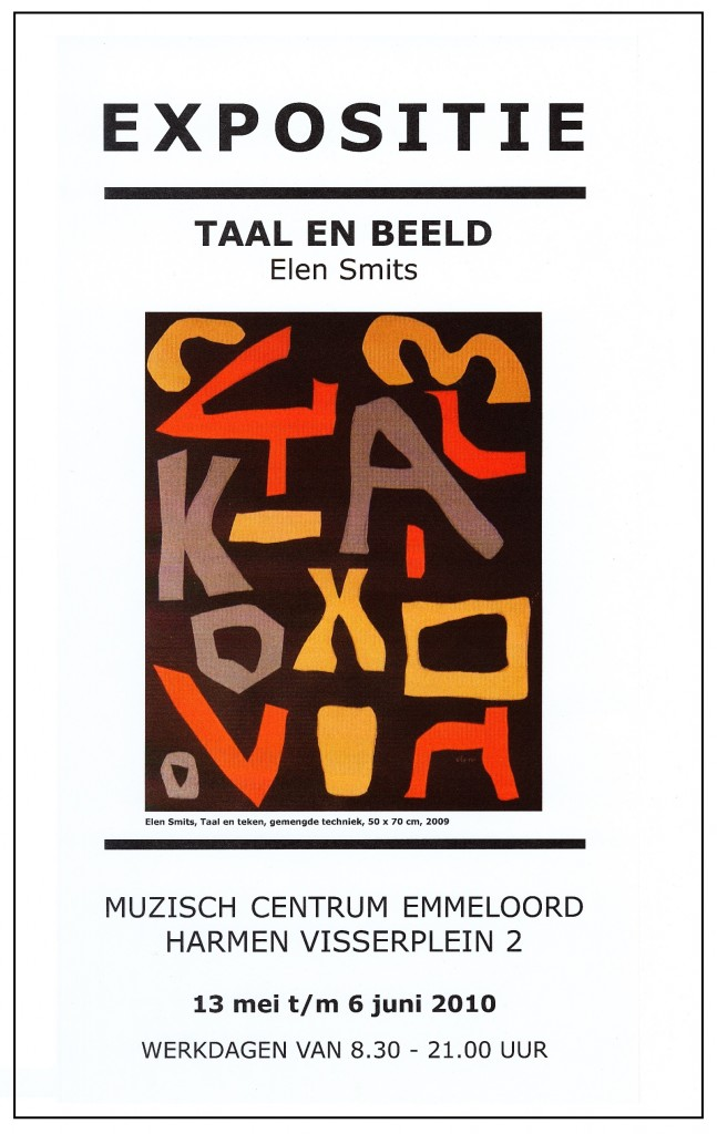 affiche Emmeloord Taal en Beeld 2010b